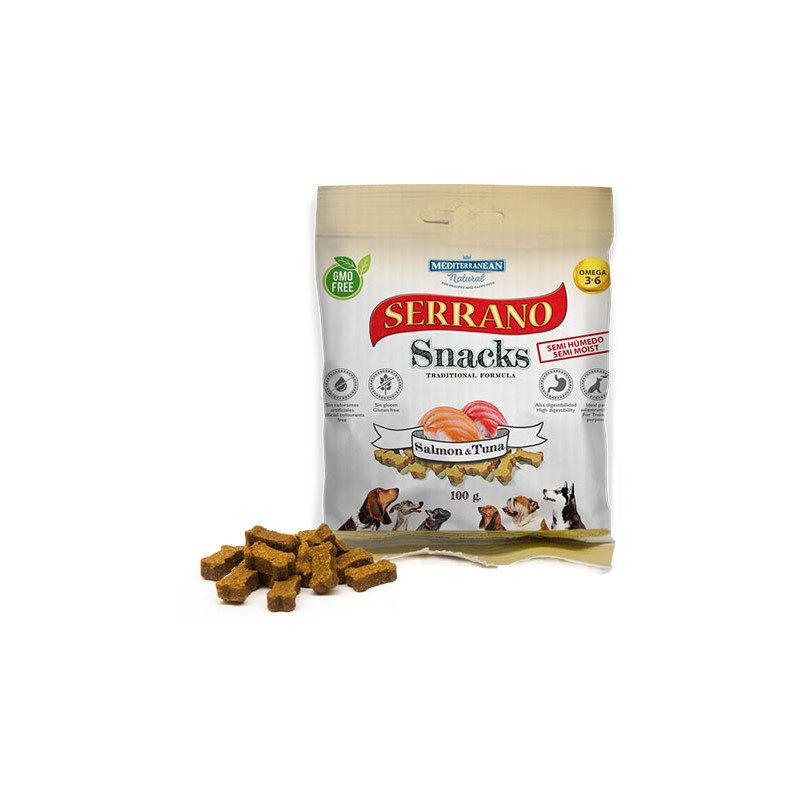 snack para perro serrano salmón y atún
