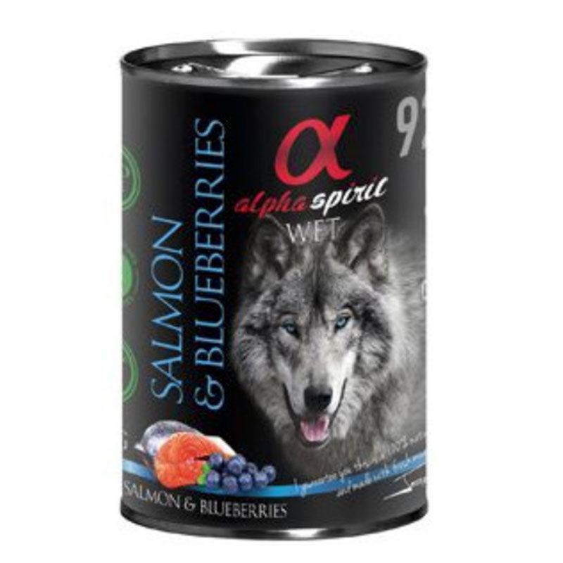 lata alpha spirit salmon con arándanos