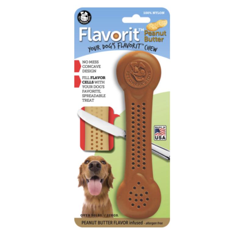 Juguete para perros de manteca de cacahuete