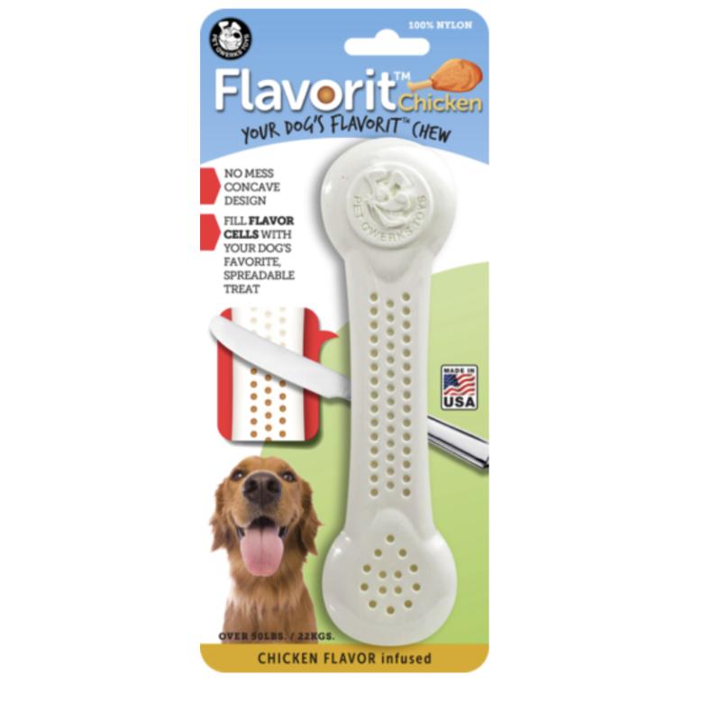 juguete para perros flavorit pollo