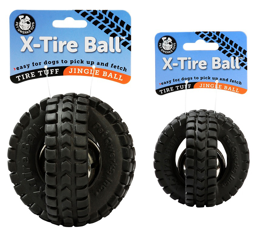 pelota con cascabel jingle x-tire