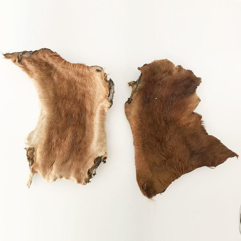 piel de ternera XL con pelo