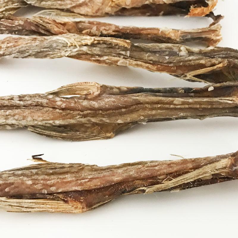 snack natural de tiras de pez lagarto