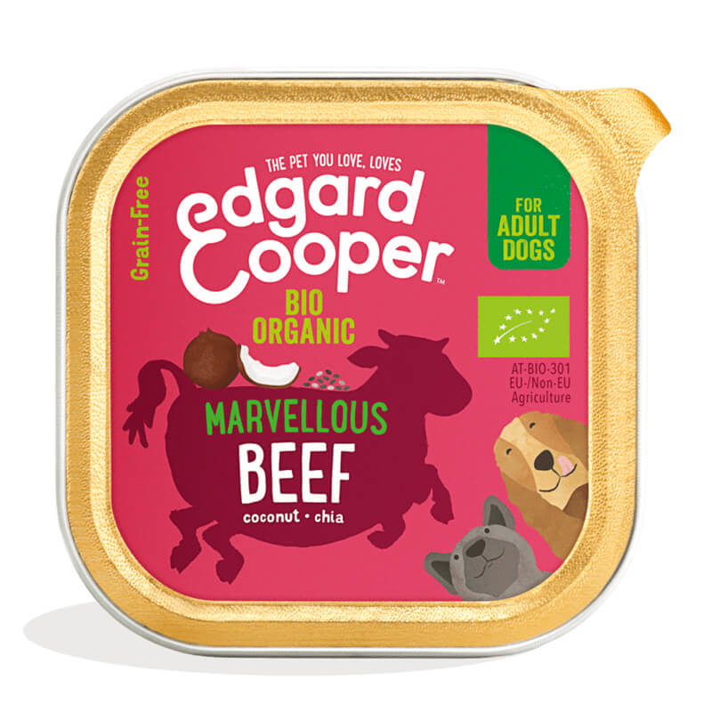 Tarrina de ternera ecológica Edgard&Cooper