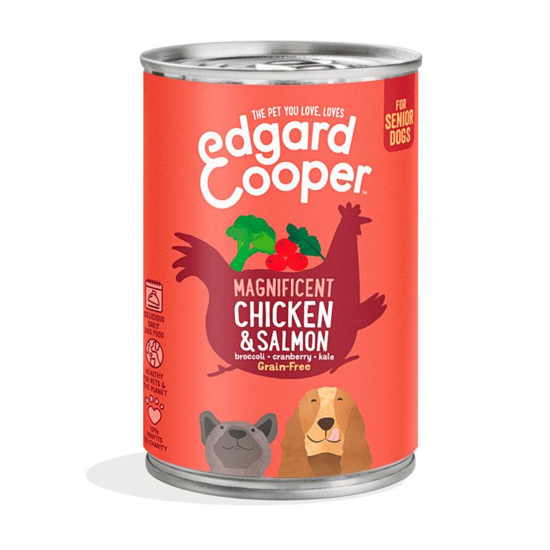 lata edgard&cooper pollo y salmon senior