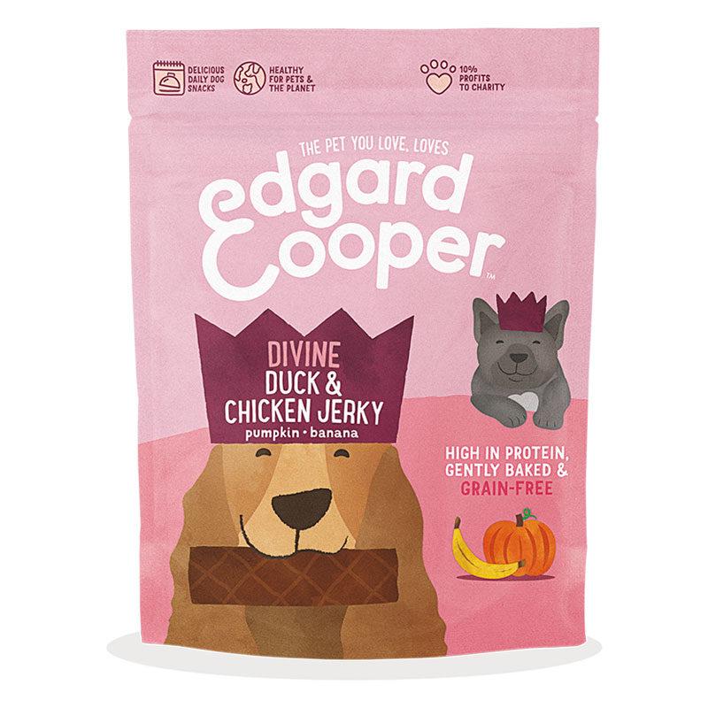 Jerky de pato y pollo Edgard & Cooper