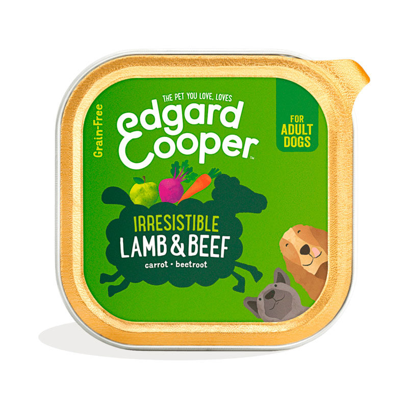 tarrina Edgard&Cooper cordero y carne de vacuno