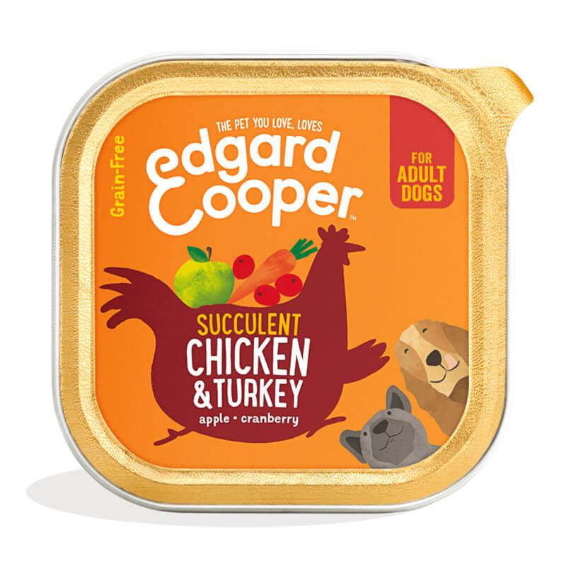 Tarrina de pollo y pavo Edgard&Cooper