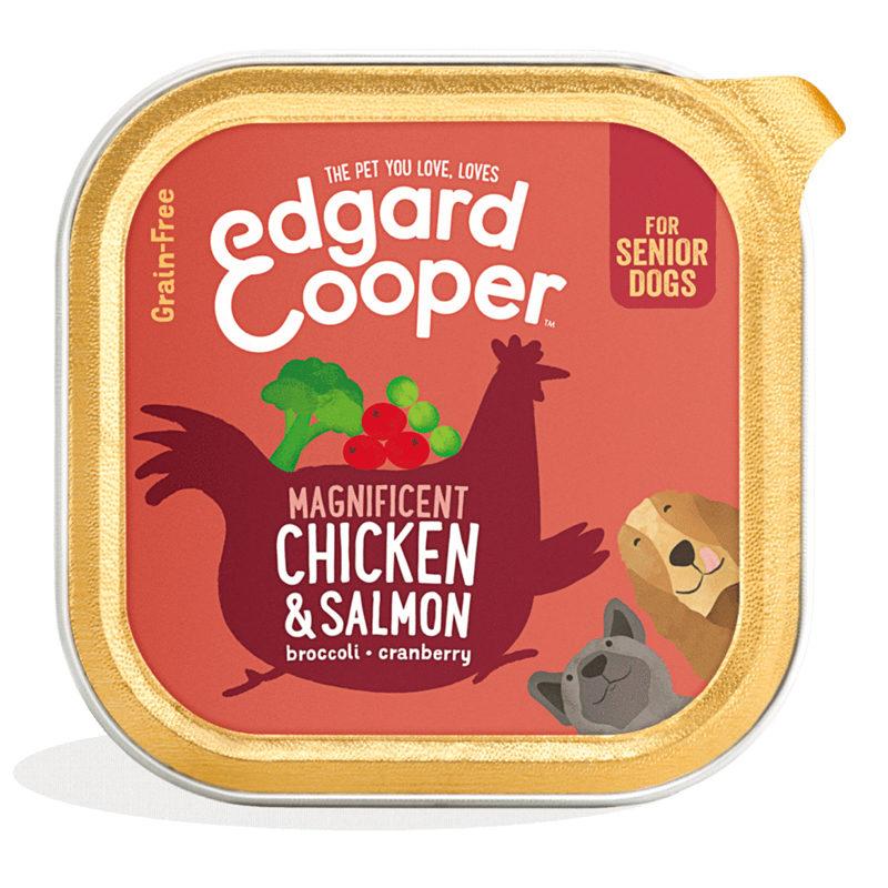 Tarrina pollo y salmón senior Edgard&Cooper