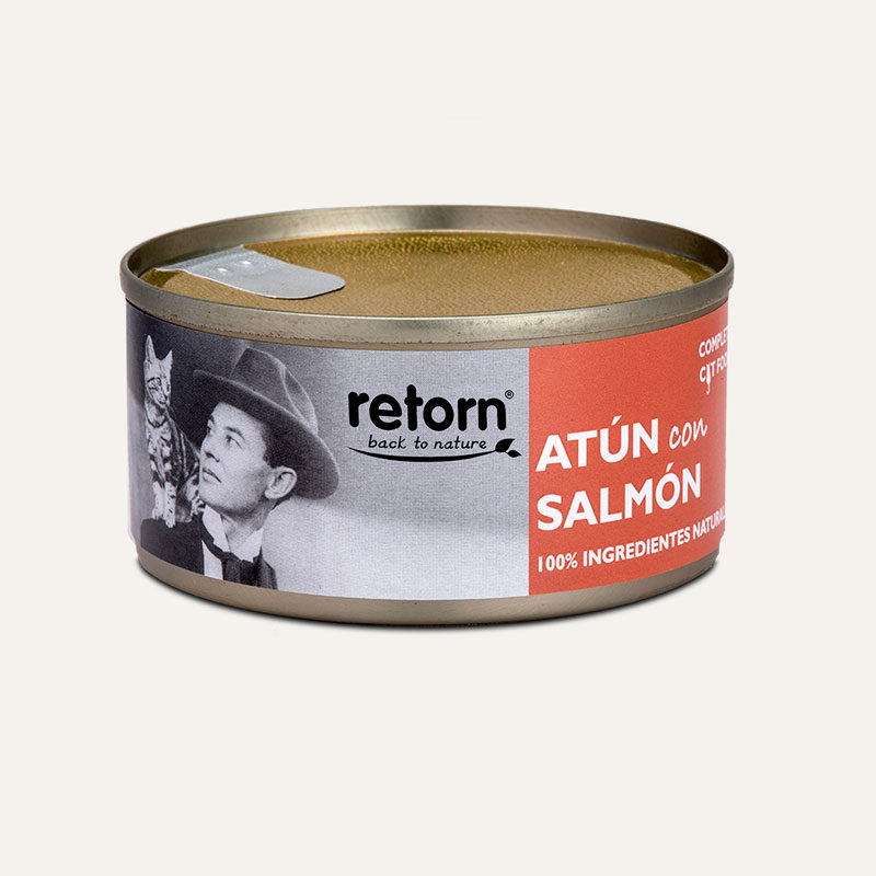 Lata retorn para gatos atún y salmón