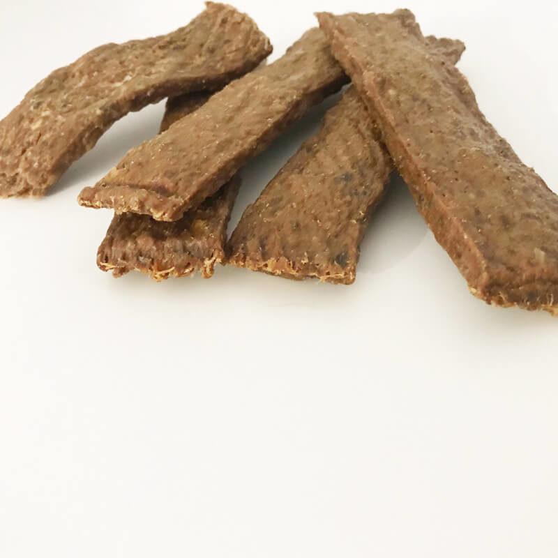 Snack natural tiras de carne de faisán
