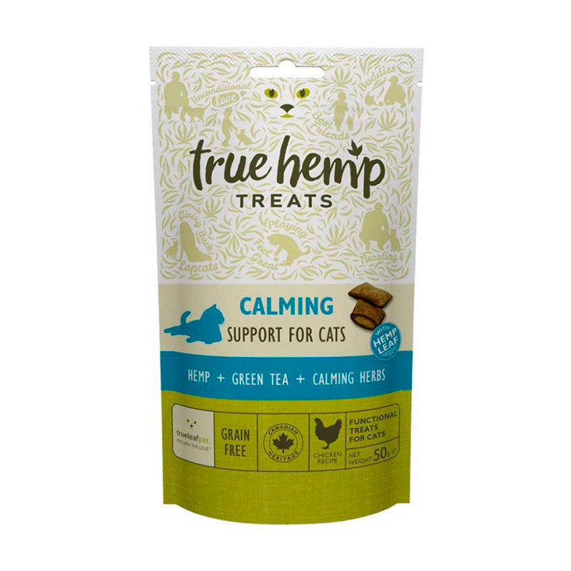Snacks calmentes true hemp gato