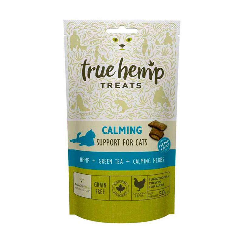 Snacks calmentes true hemp gato