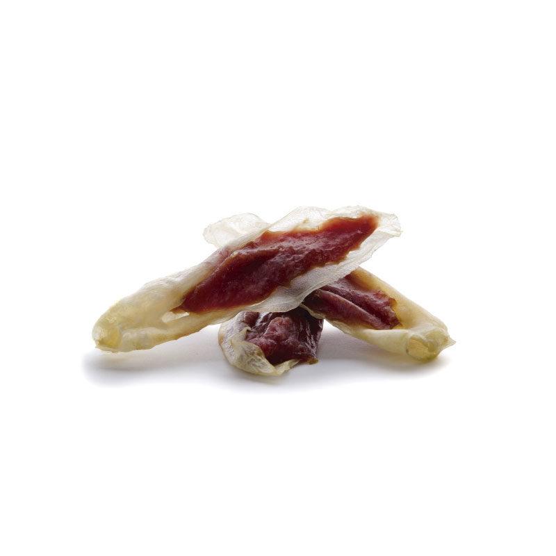 Oreja de conejo rellena de pato
