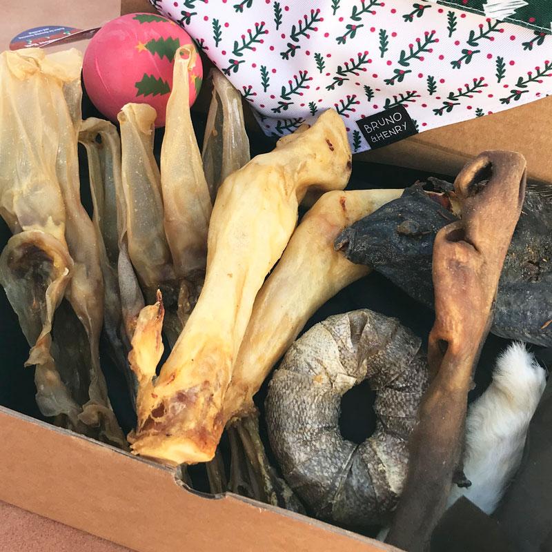 caja regalo de navidad para perros