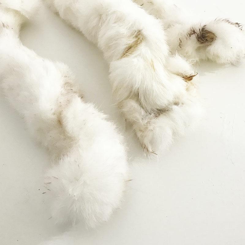 snack piel de conejo con pelo