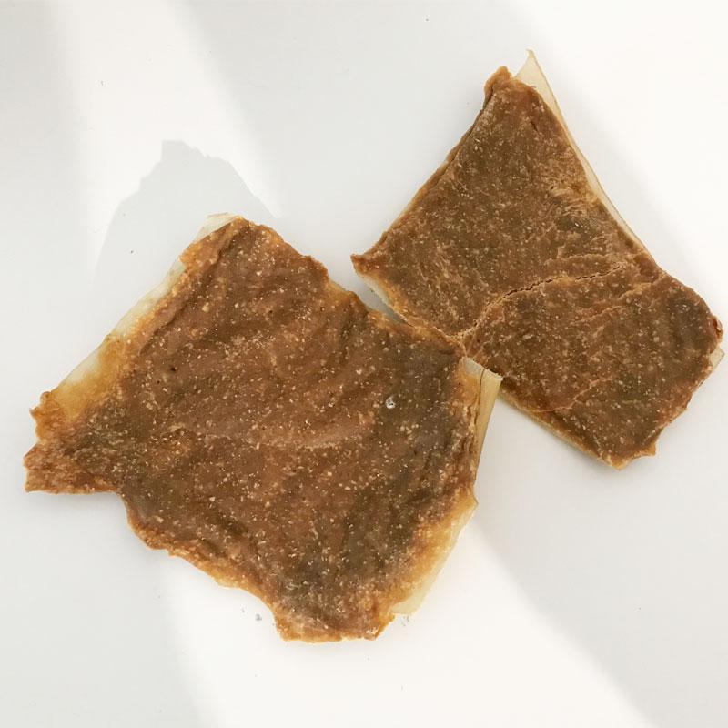 Snack de piel de búfalo con mejillón de labios verdes