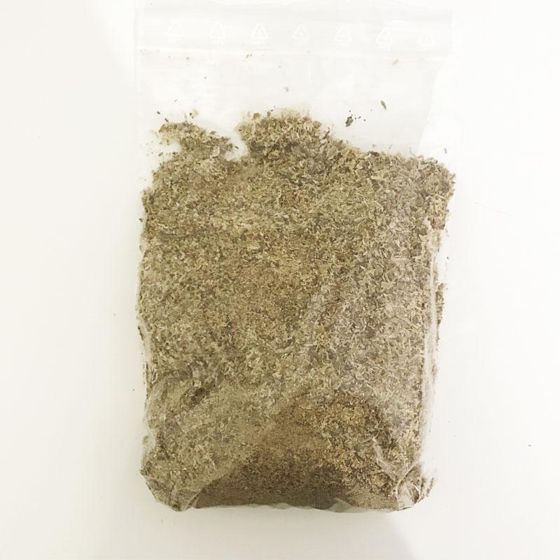 tripa verde deshidratada