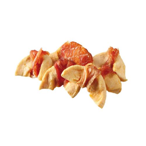 Snacks perro de pollo y manzana