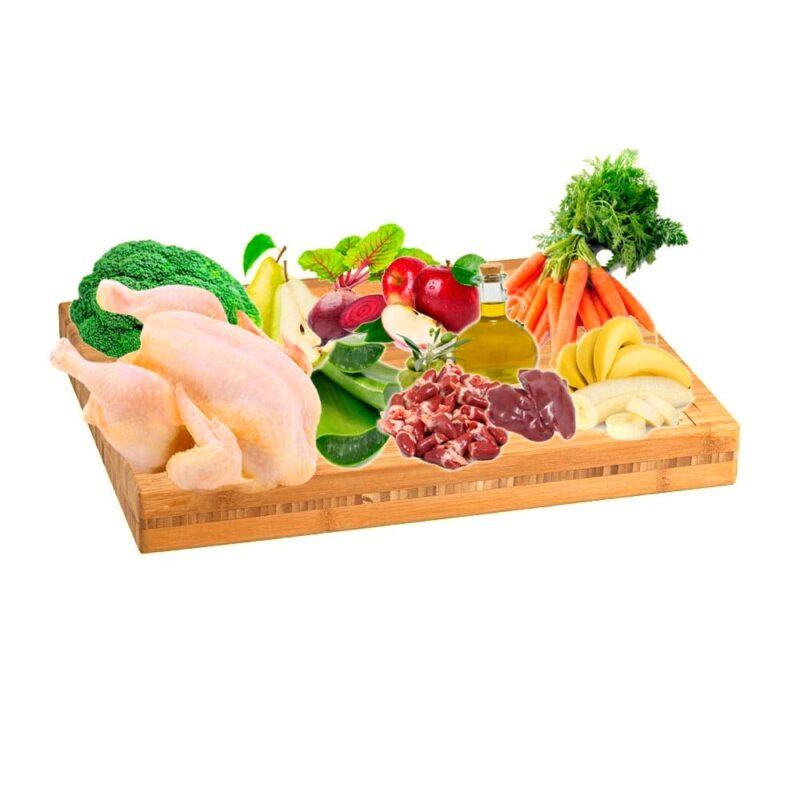 Dieta BARF menú de pollo