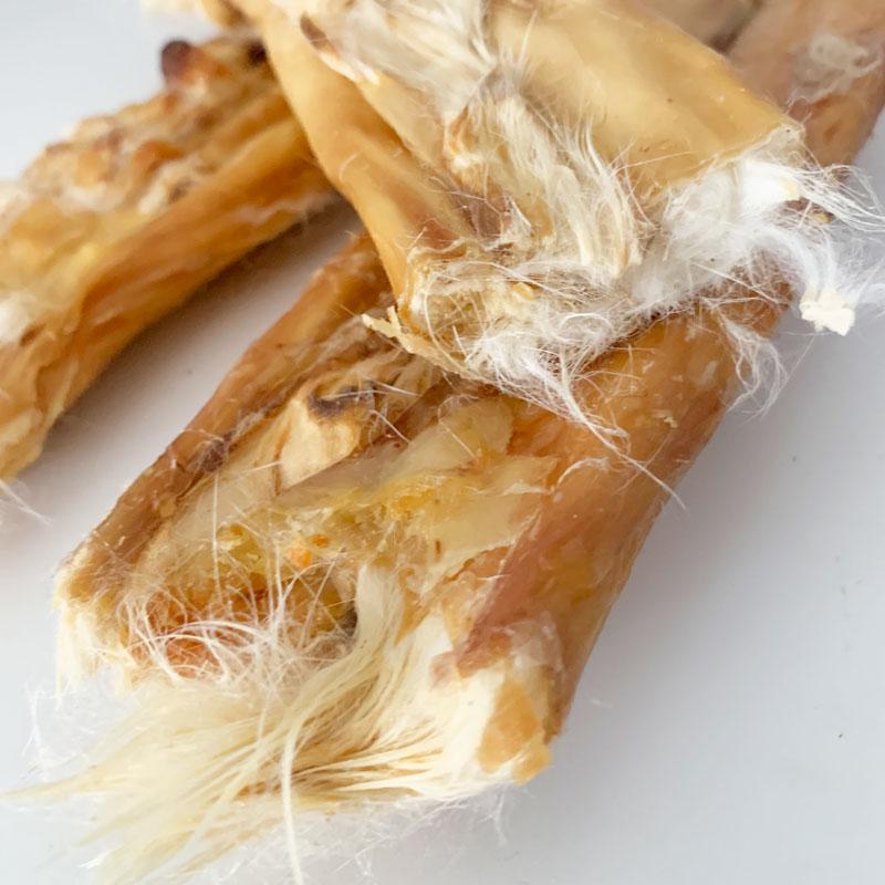 Piel de conejo con pelo snack
