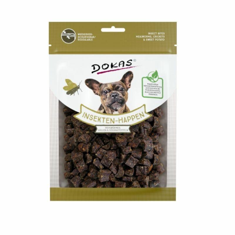 snack natural de insecto para perro