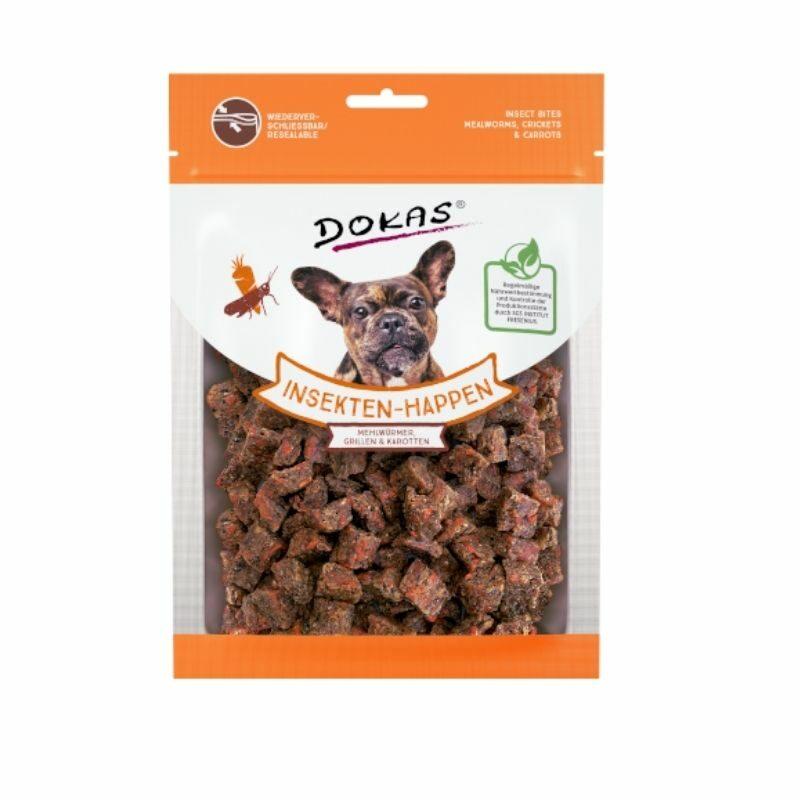 Snacks de insecto para perro