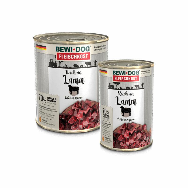 Lata Bewi Dog cordero