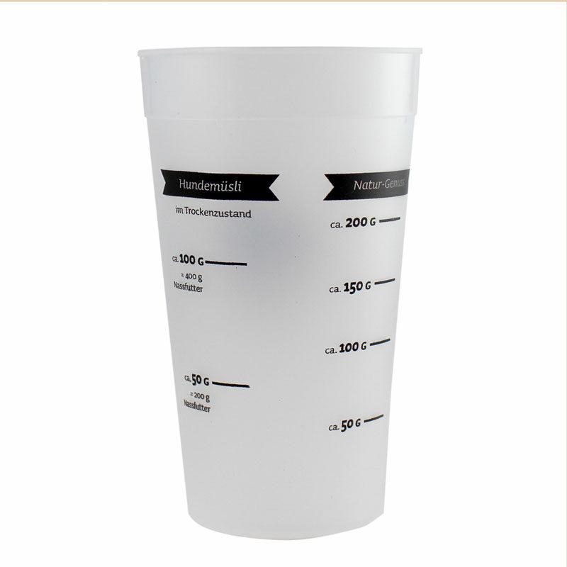 Vaso medidor comida deshidratada perros